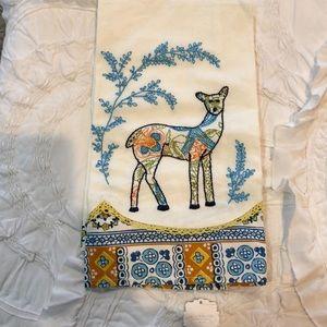 Anthropologie deer dish towel NWT